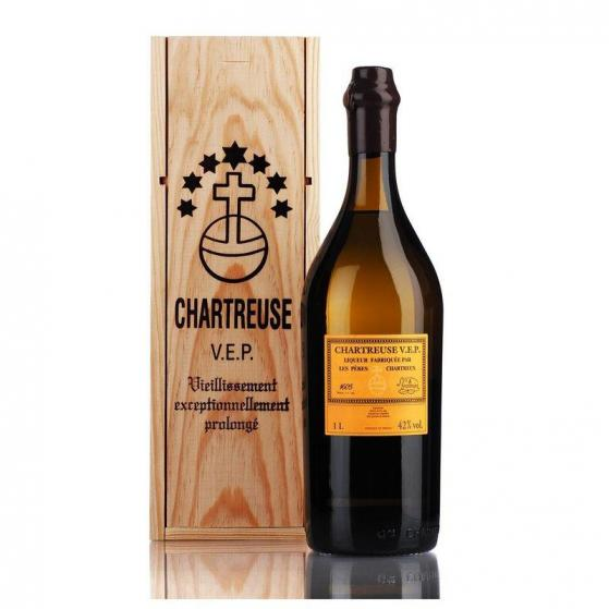 Chartreuse VEP (vieillissement exceptionnellement prolongée) Jaune 42% - 100cl -Liqueurs de la grande Chartreuse