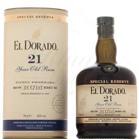 Rhum El Dorado 21 ans, 43%