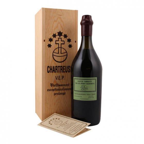 Chartreuse VEP (vieillissement exceptionnellement prolongée) Verte 54% - 100cl  -Liqueurs de la grande Chartreuse